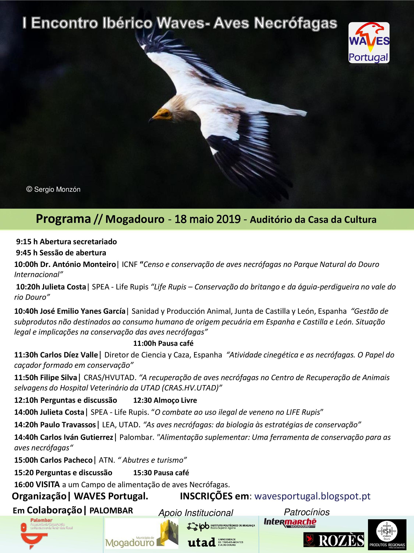 I Encontro Ibérico WAVES - Aves necrófagas 18 de maio de 2019 - Programa.jpg