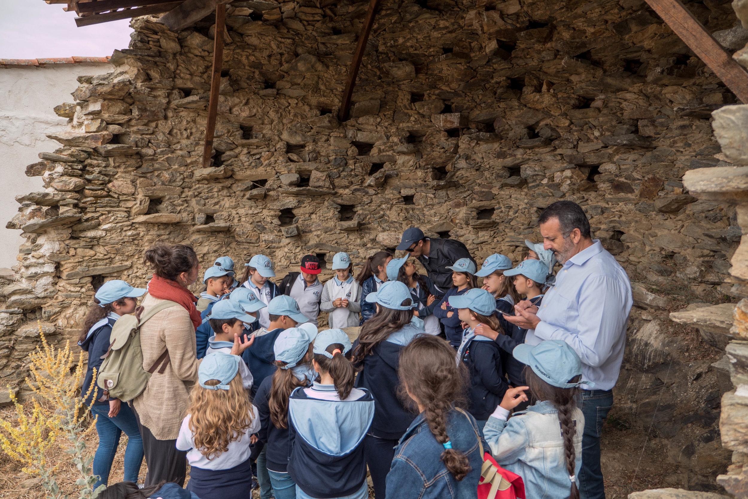Visita ao Pombal Pedagógico da Palombar em Uva.
