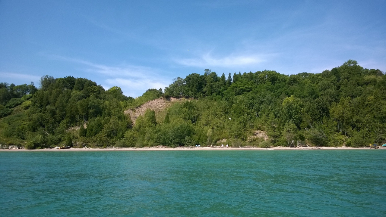 A different view of The Beach (and Lookout Ridge). Photo by Cate or Rob (thanks)!