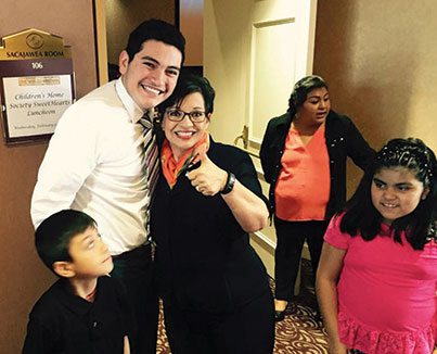 Christian Moreno discovered a love of learning and volunteering thanks to his mentor,Mariela Rosas.