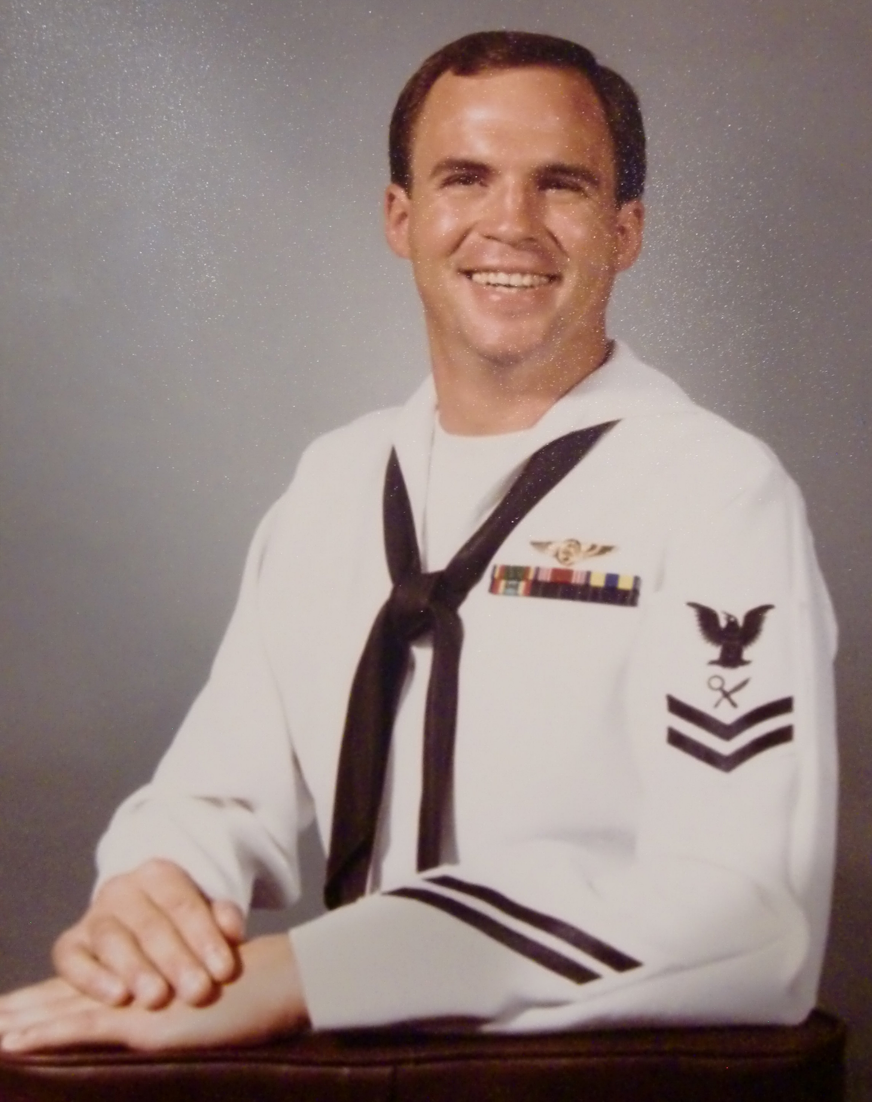 Dave Teed in his early days with the Navy.