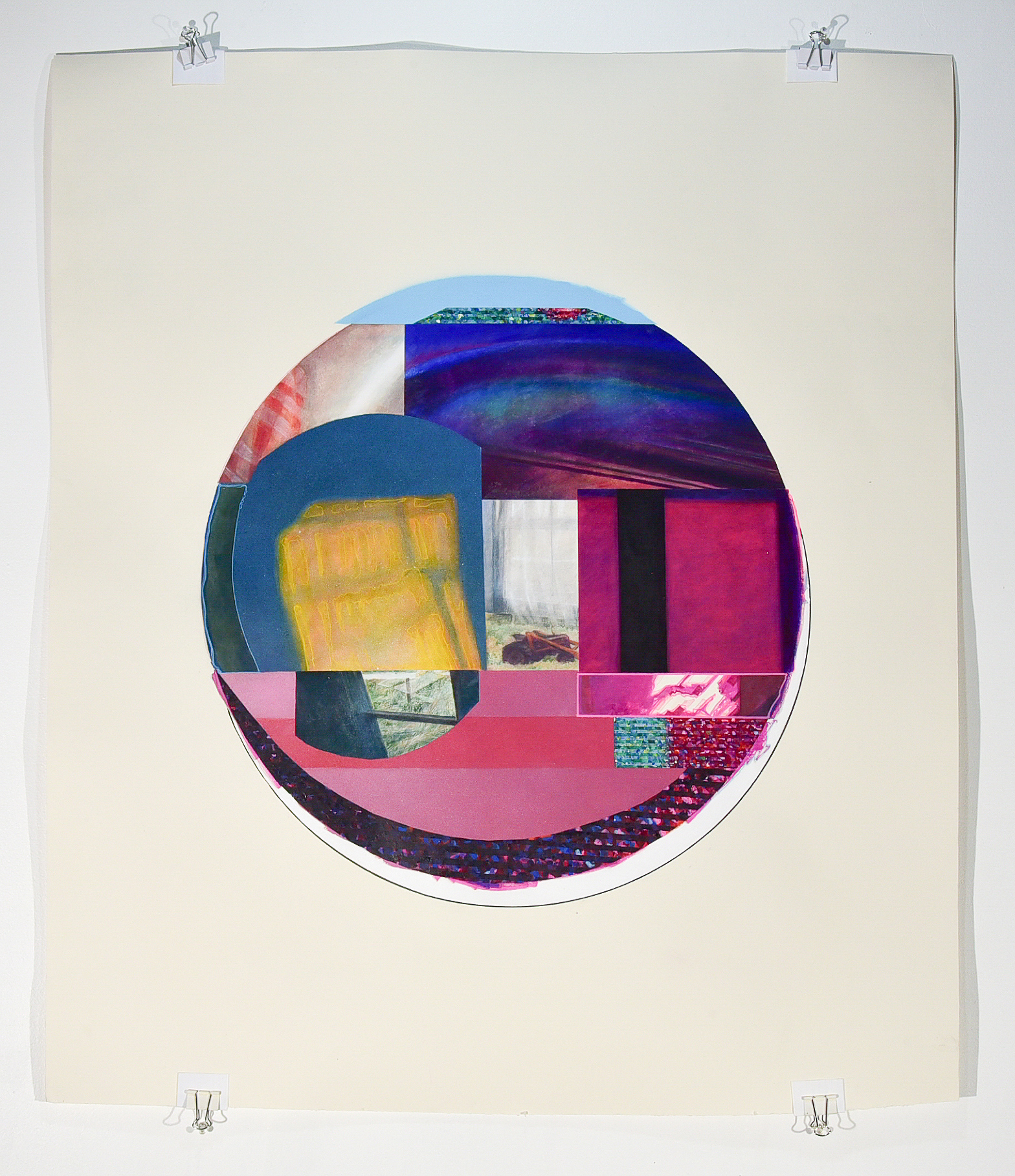 Memory Object 1  2017  acrylic, spray paint, marker, and colored pencil on paper  36in. x 36in.