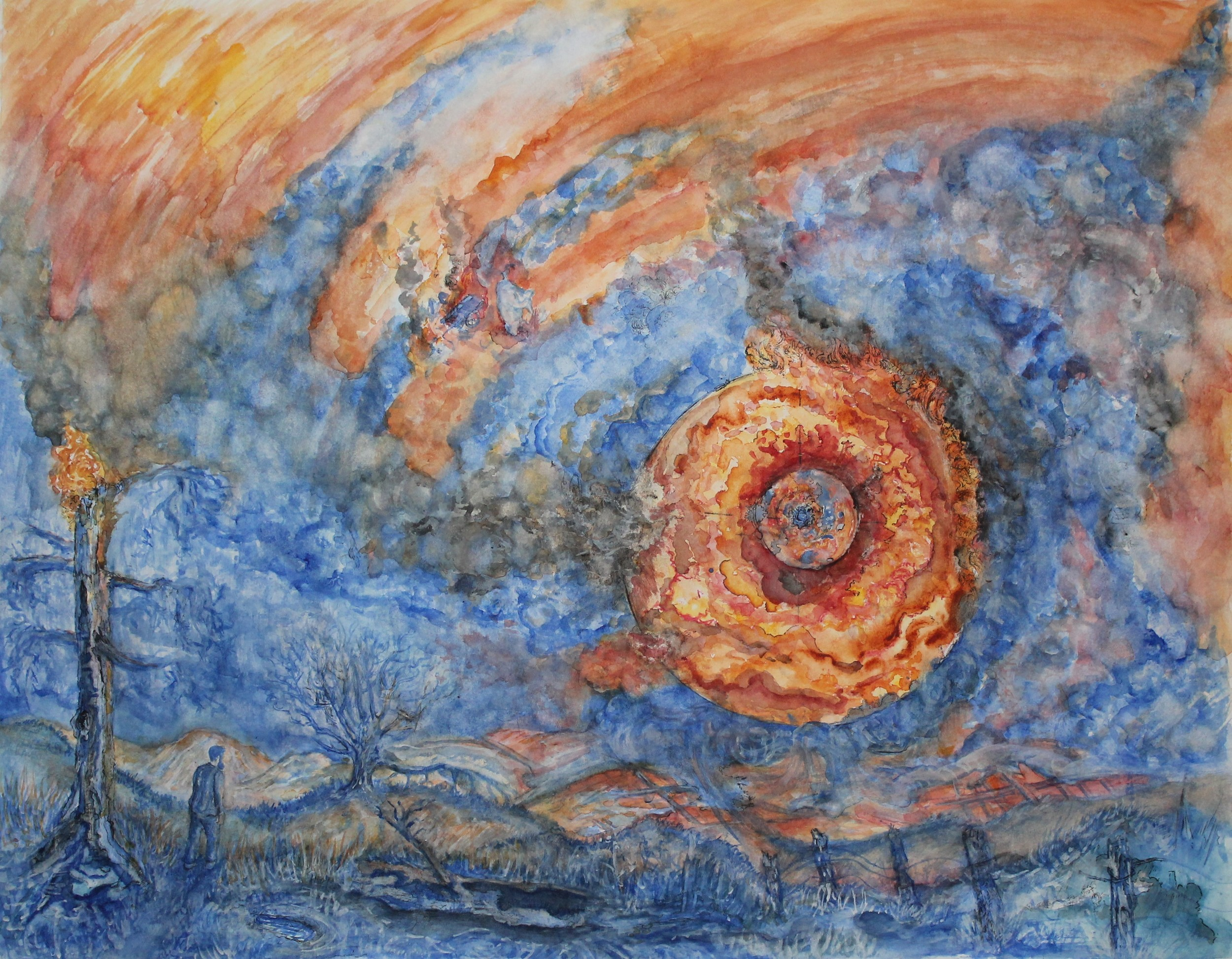 """To Tear a Hole in the Frightening Dawn (30x42"""")"""