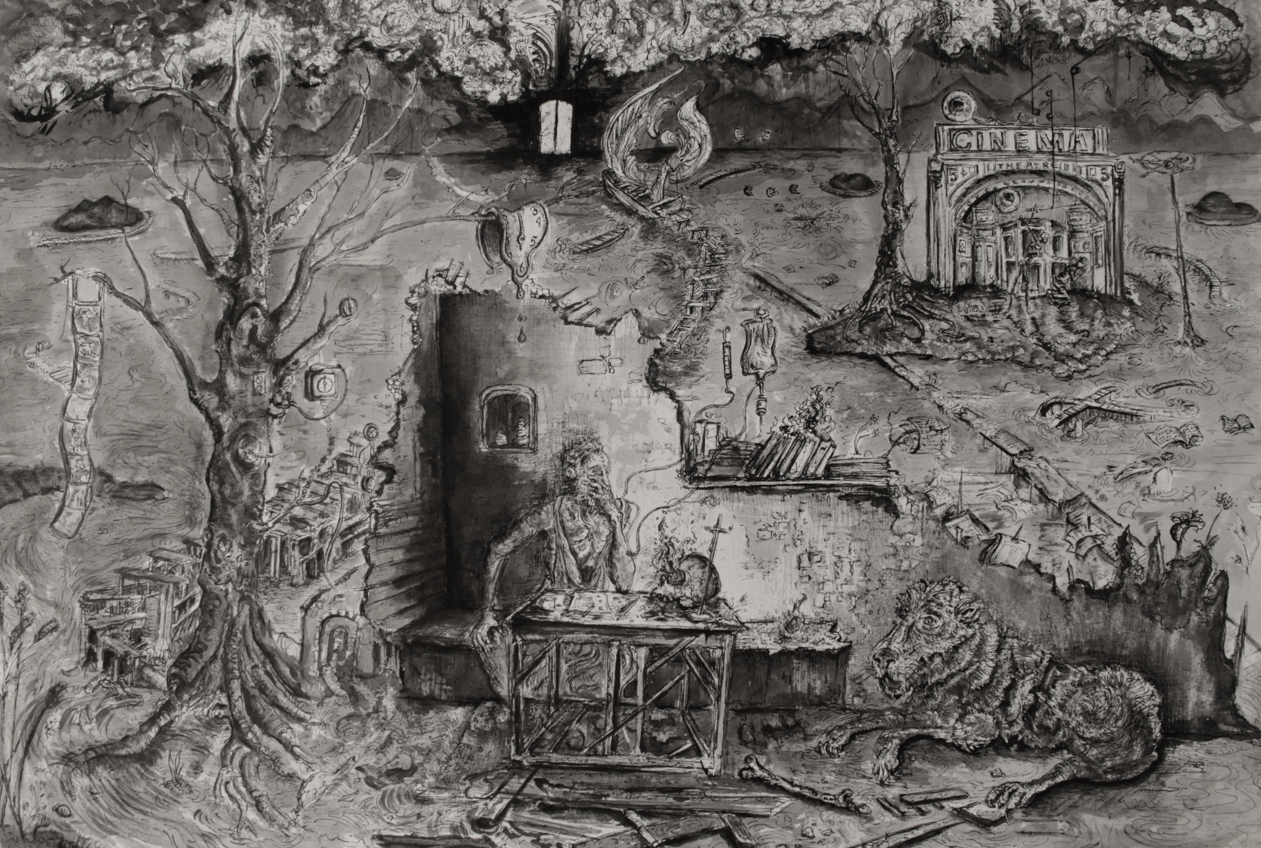 """The Gate and the Judge (20x14"""")"""