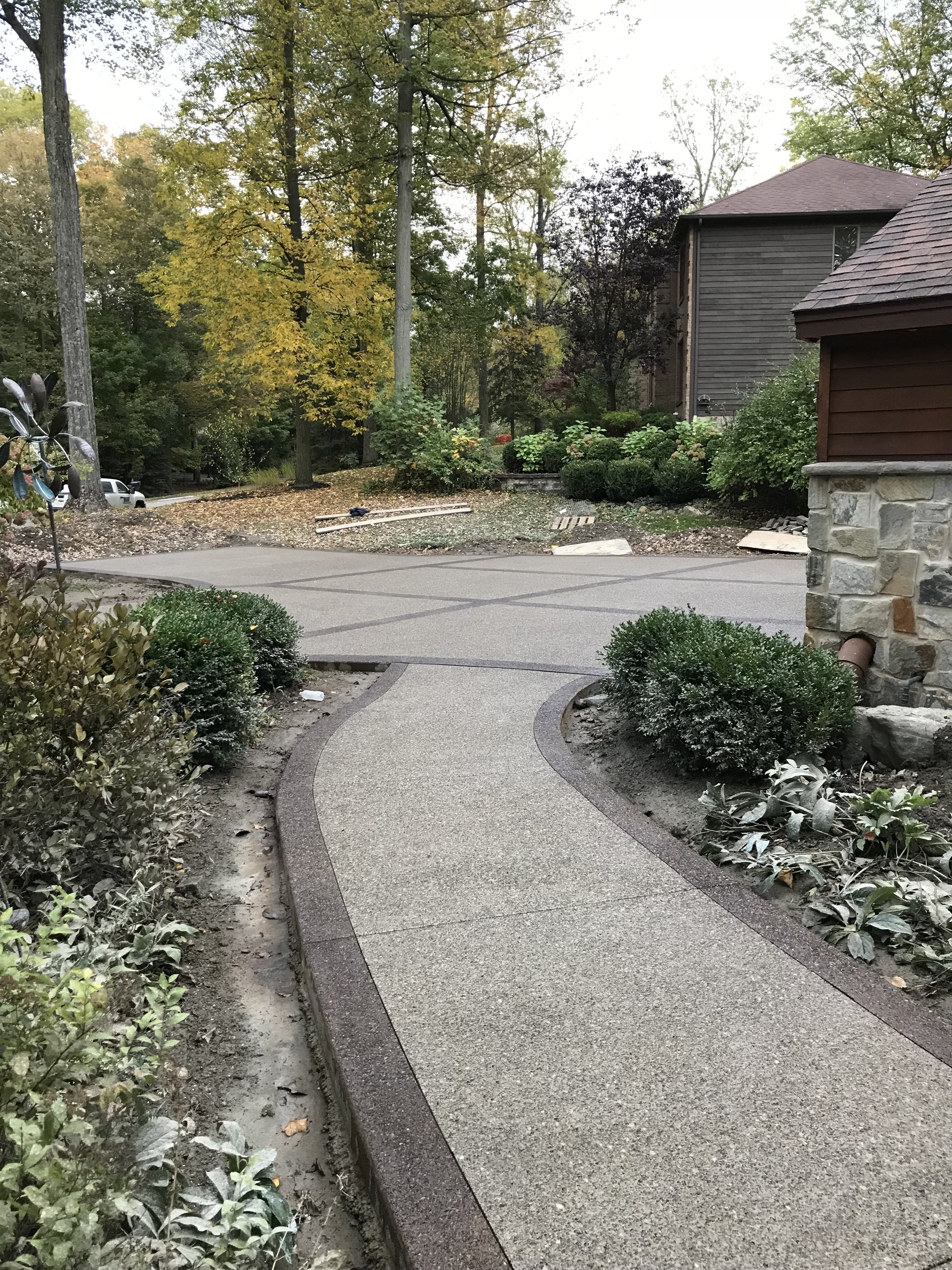 Walkways  Protect your investment. Power washing and resealing your decorative concrete investment, brings your concrete back to the beauty it was when it was first installed.