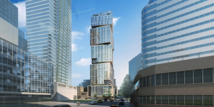NEXUS, as it will soon be experienced in downtown Seattle, as the stacked cube architecture takes first and foremost among the burgeoning East Village neighborhood.