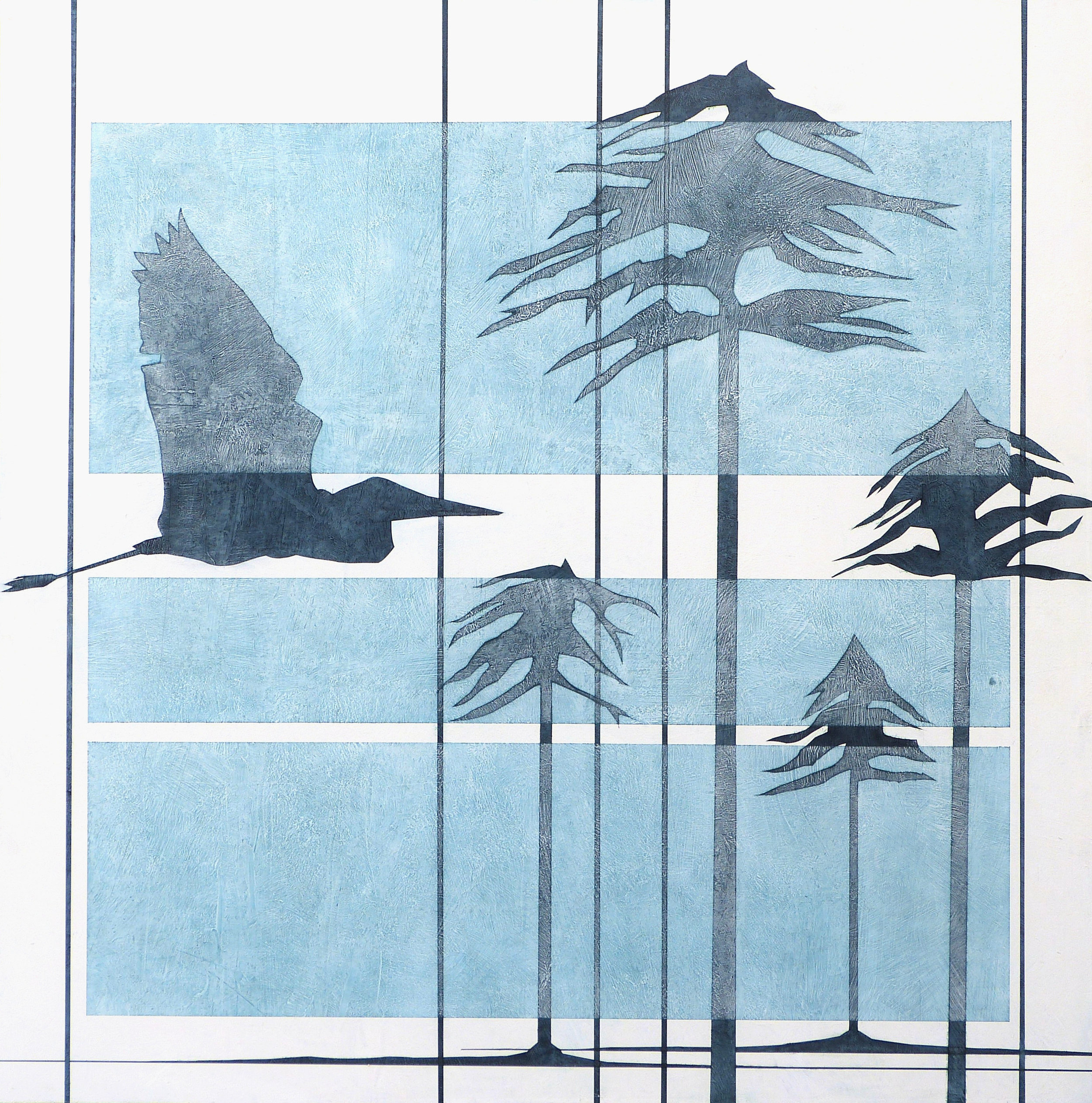 HERON PINES - Arrow FlightHeron hunterNature's fates mergeInitiating a transmutation in the collective..The dart in this shape-shifting Wild-woodThe story of the landscape is made