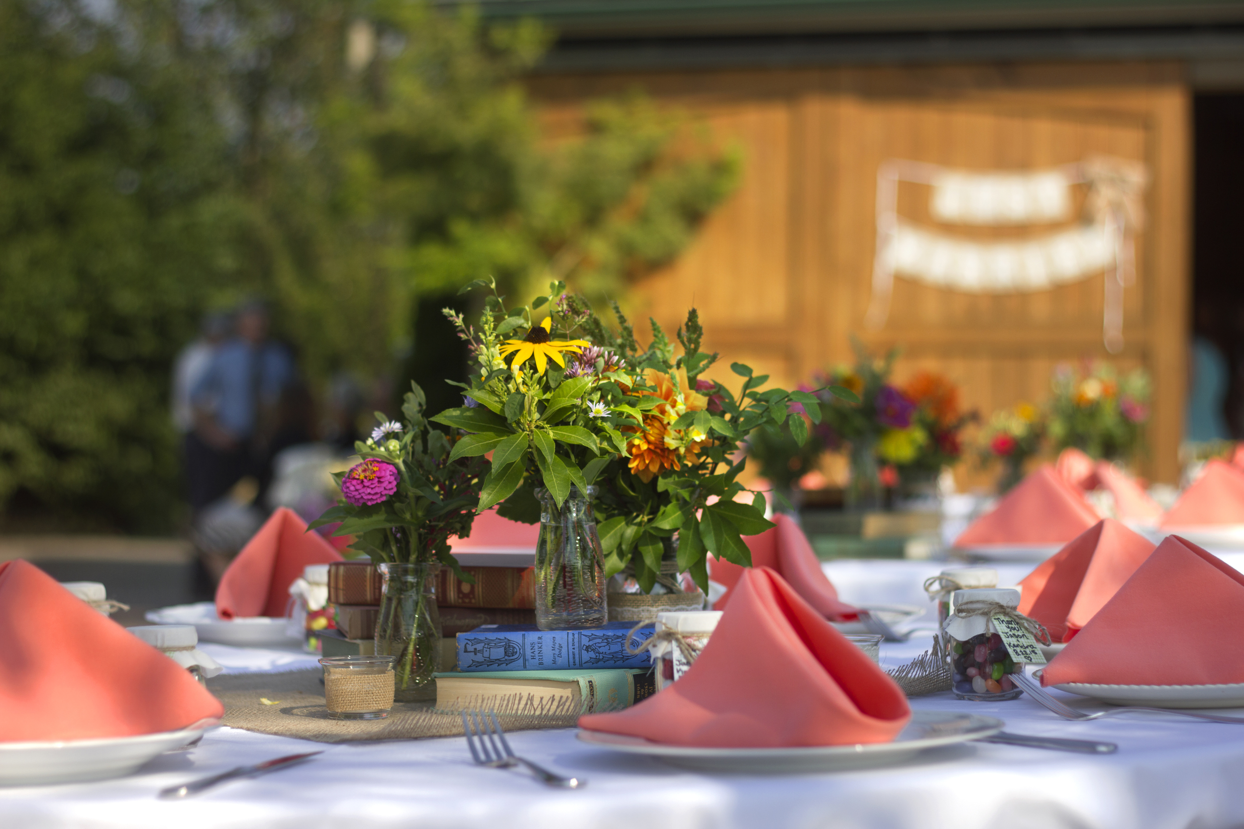 Garden wedding on the patio...