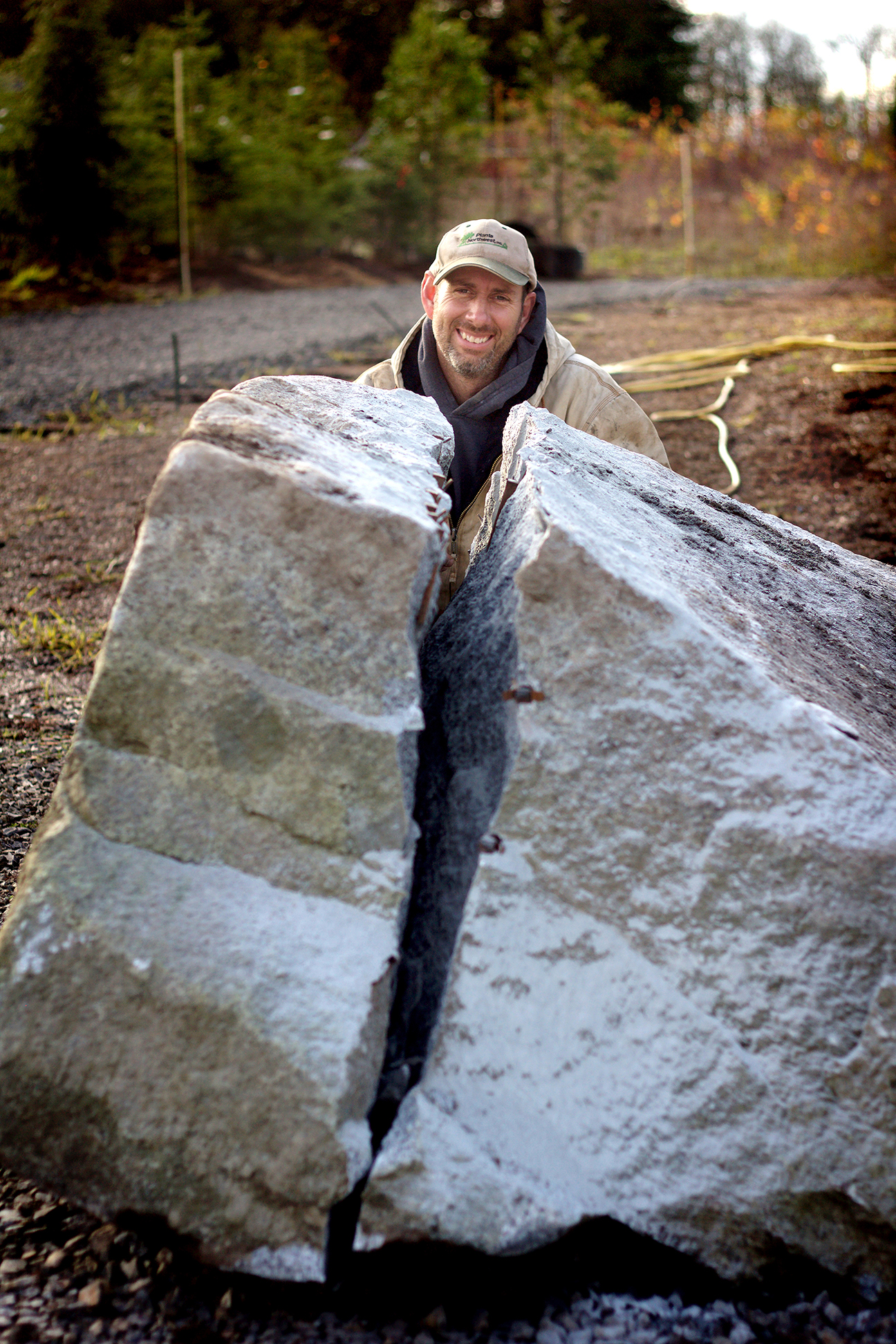 With a passion for rock - Paul has crafted beautiful natural focal points with large pieces of granite around our venue. His style is one that reflects the natural Northwest landscape.