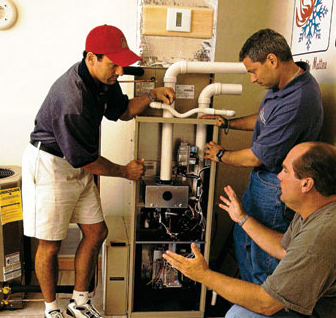Total Temp installs an energy efficient gas furnace on the show, This Old House.