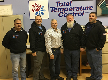 The supervisors at Total Temp include: HVAC, electrical, operations, installations, and the company president.