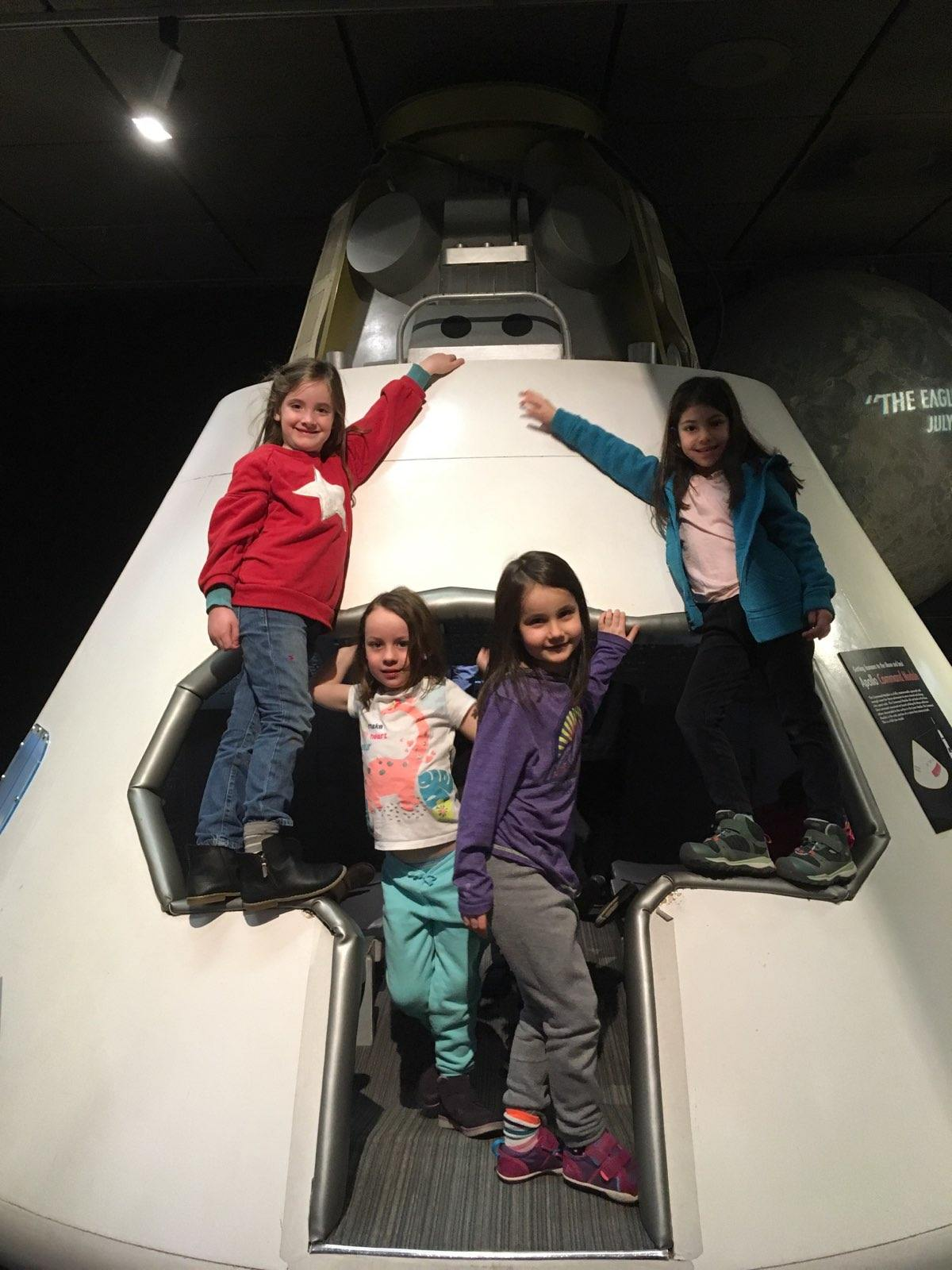 Our K/1 class blasted off on their space-themed field trip to the Museum of Science.