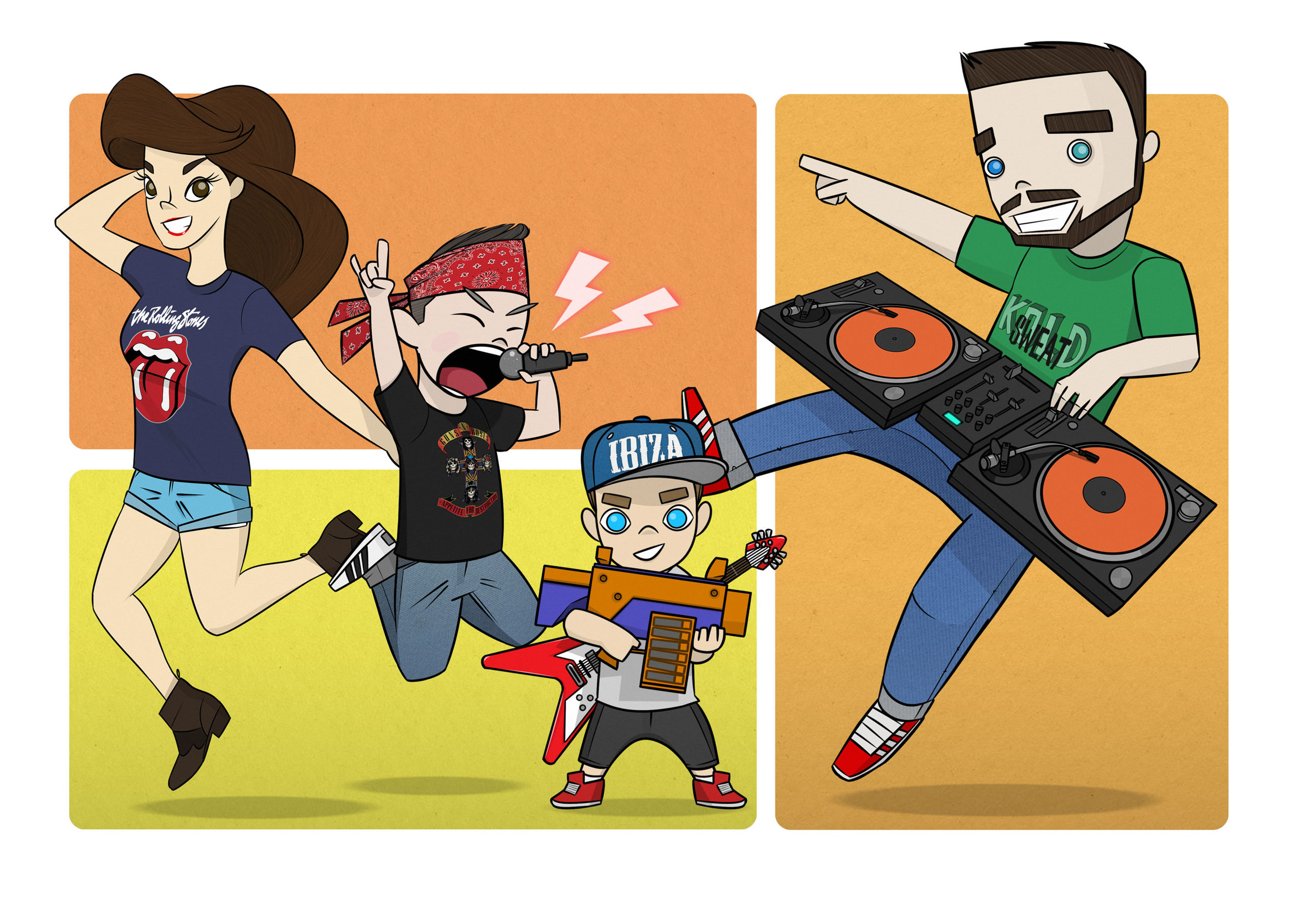 This is us, being us, thank you  Jimmy Dee for this awesome family portrait
