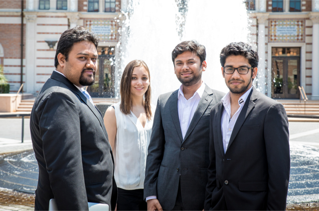 DroiceLabs team, pictured left from right, Ashanideepta Bhattacharya, Tasha Nagamine, Mayur Saxena and Harshit Saxena