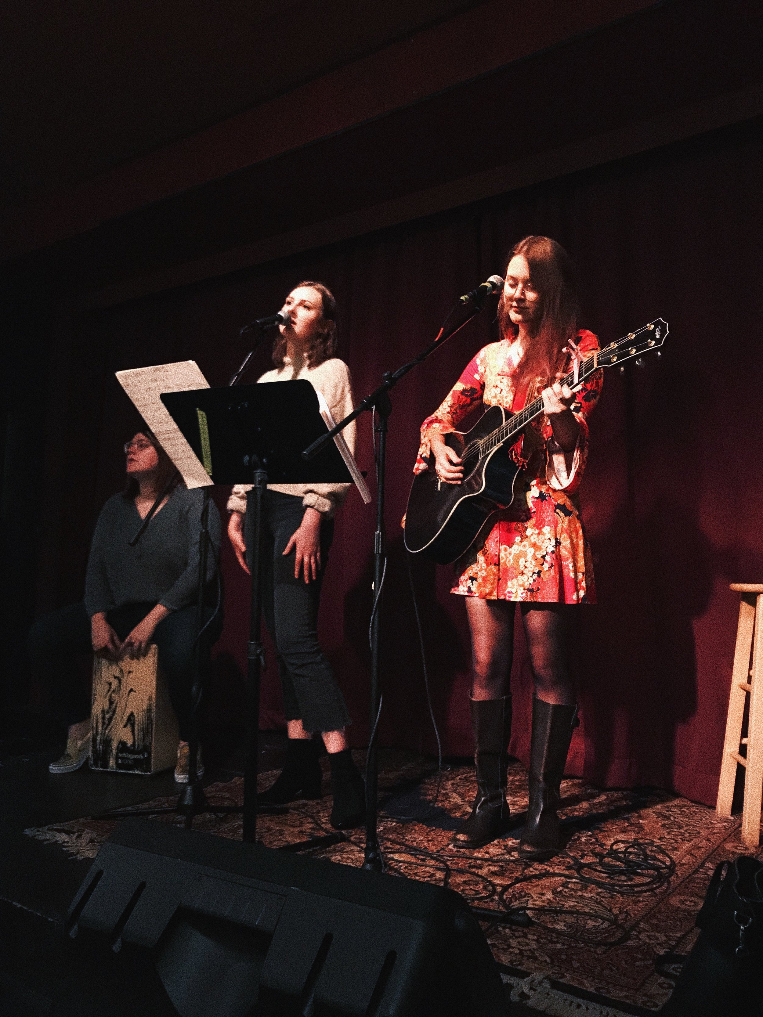 "Listen to us play our song, ""As Long As The Sun""- live at the Black Dog Arts Cafe. - Click here!"