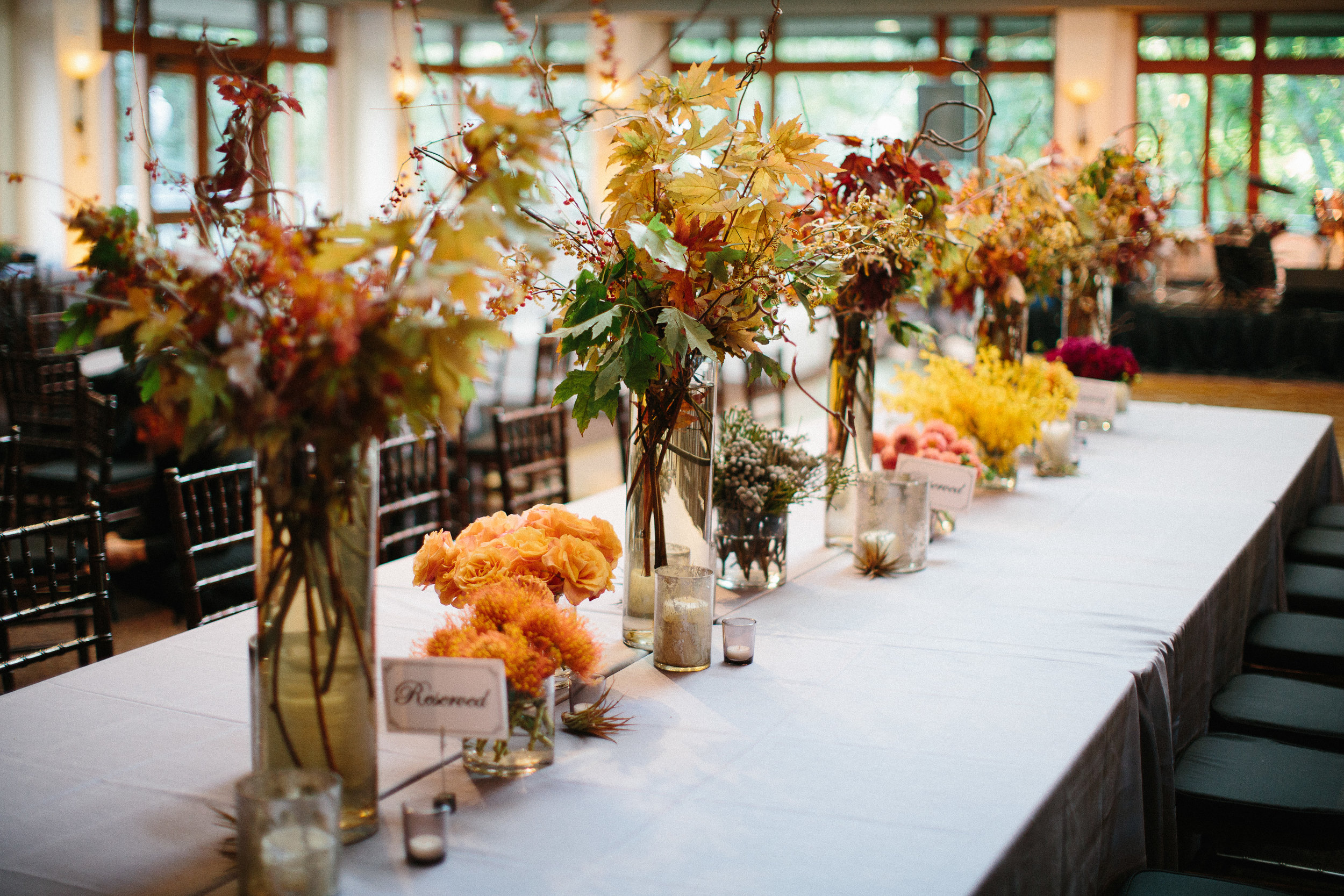 beautiful fall floral for wedding