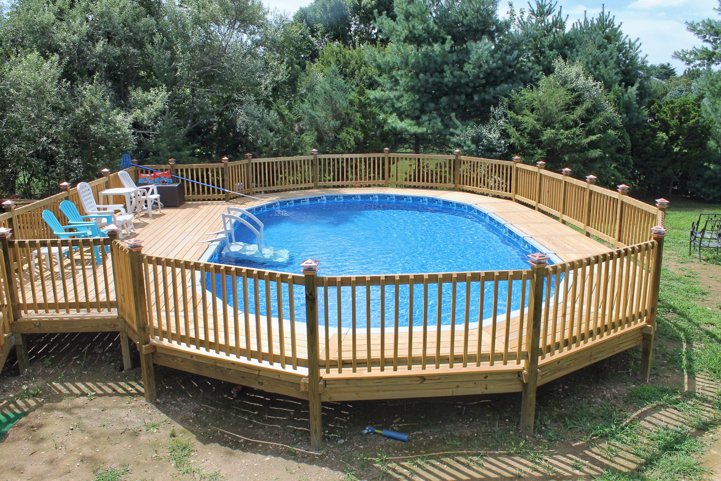 Above Ground Pools Blue Water Spas, How To Install An Above Ground Oval Pool