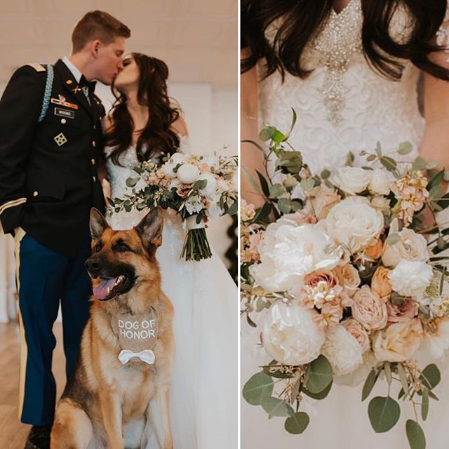 Does it get any better than kissing your best guy with your favorite four-legged friend standing by?  We think not.  Hearty Congratulations Mr. & Mrs. Wiggins!!! 📸 cred :: @forthewestandwild