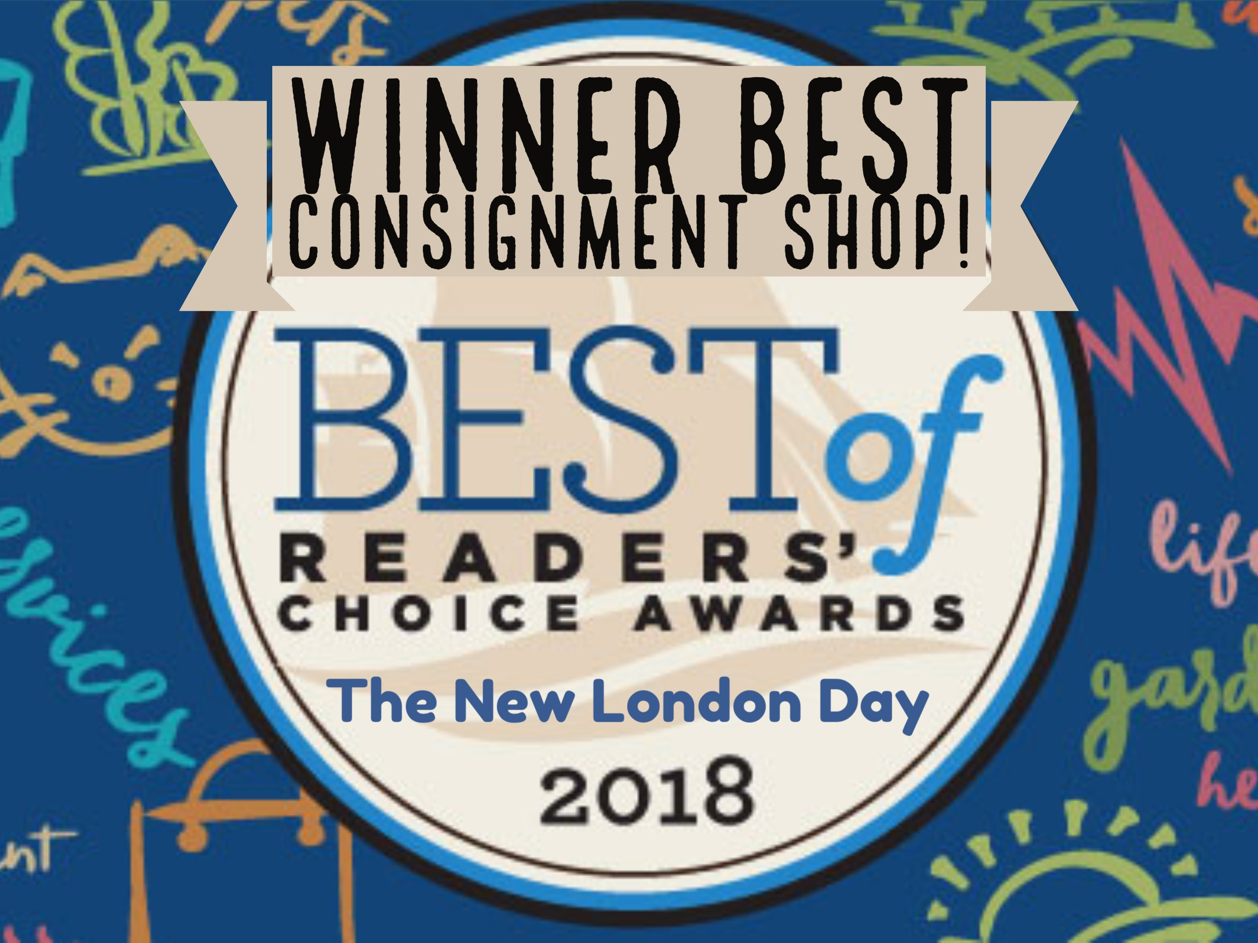 Winner New London Day Best Consignment Shop!