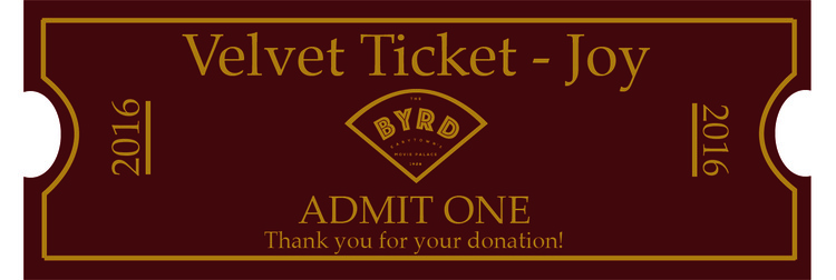 Collectable vintage movie ticket.