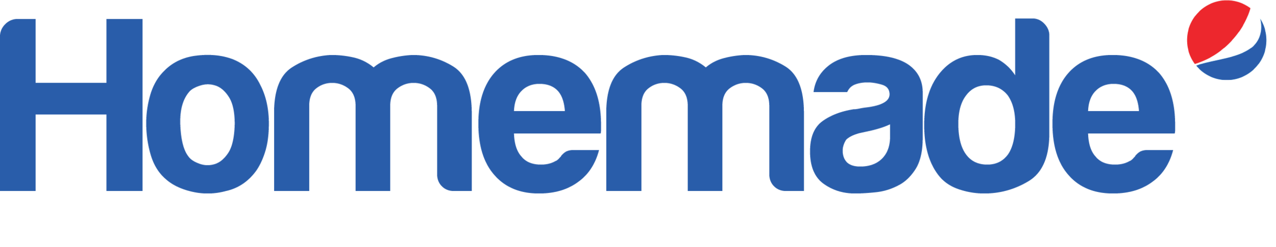 Homemade by Pepsi logo. In this new logo rendition, the Pepsi logo is smaller, to draw less attention to the brand, but to see where the collection stems from.