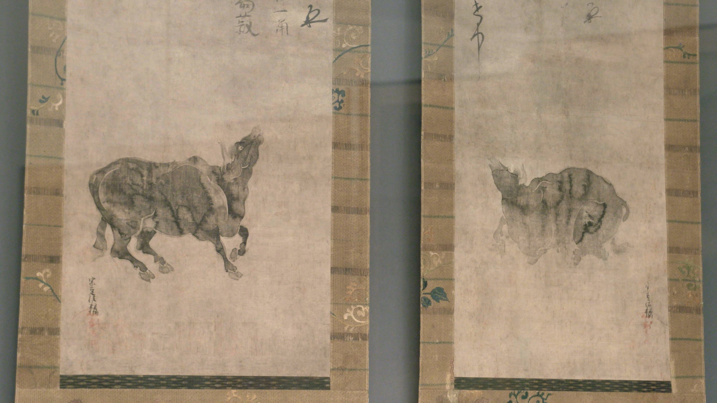 Bull Scrolls   Kyoto National Museum