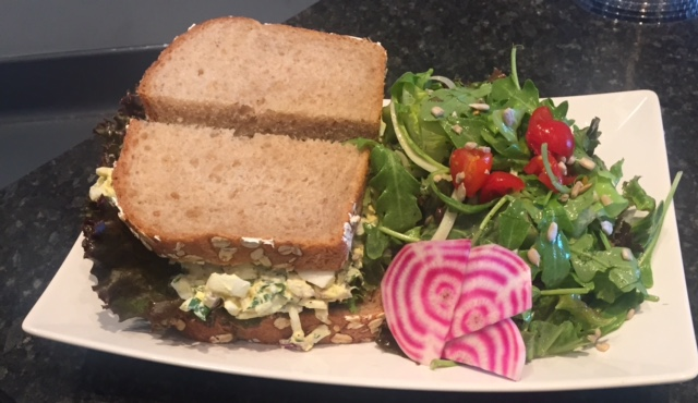 Copy of Egg Salad Sandwich with a side salad
