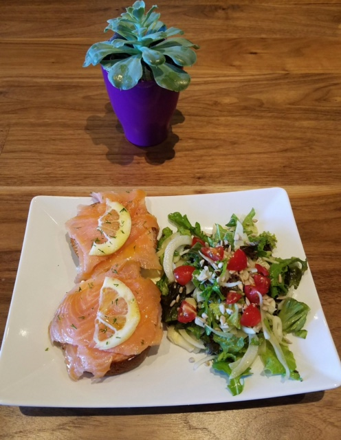 Salmon Open Face Sandwich