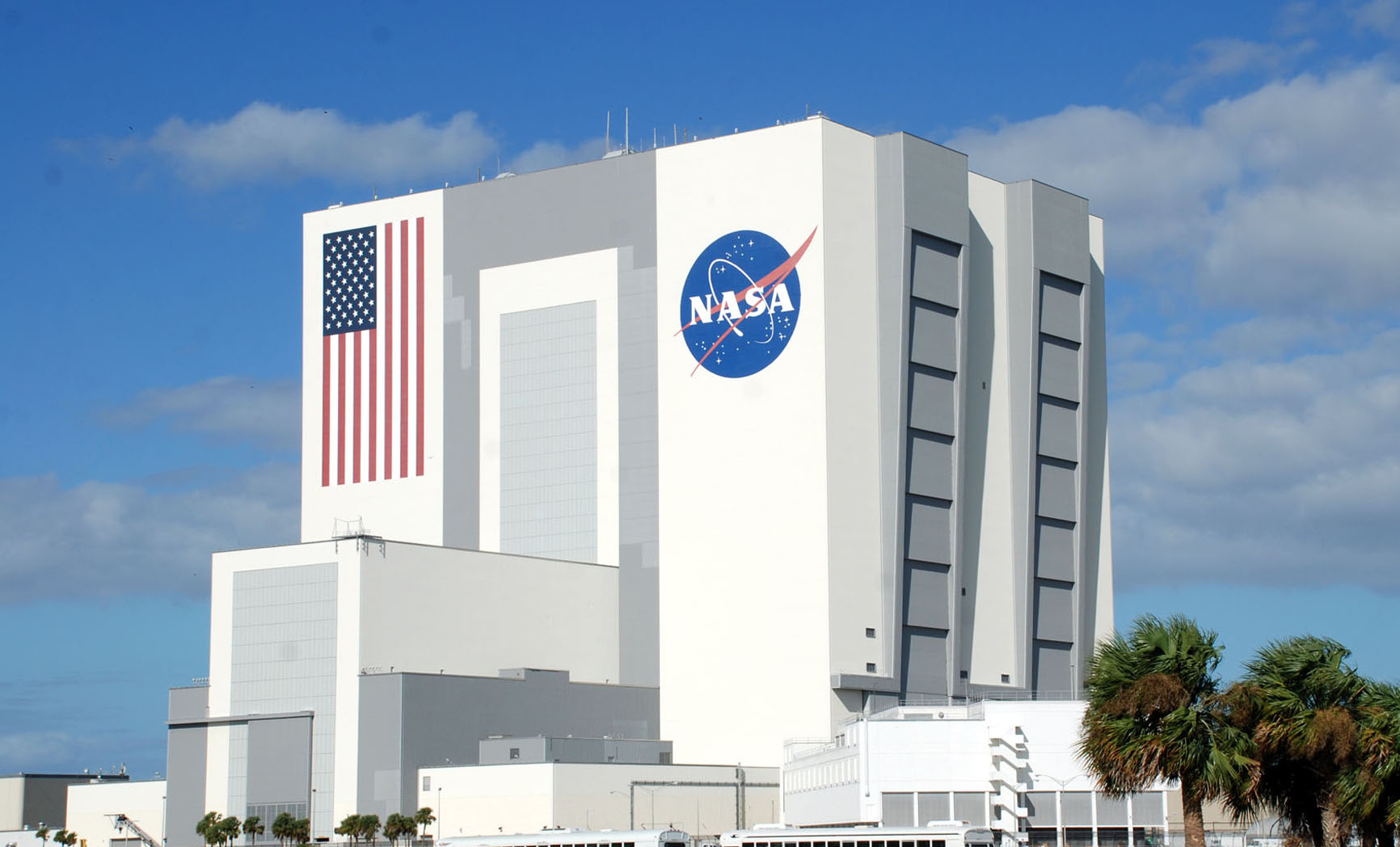 NASA's Vehicle Assembly Building, one of the largest buildings in the world.