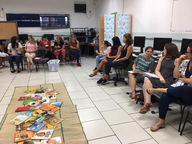 Palestra na escola Lourenço Bellochio, em Campinas