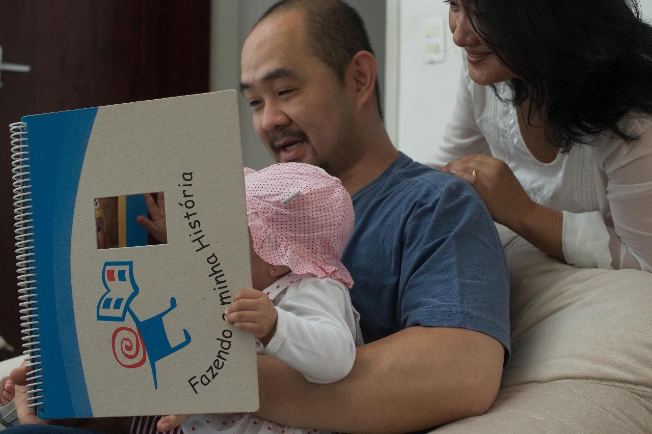 Uma das famílias acolhedoras acompanhadas pelo IFH