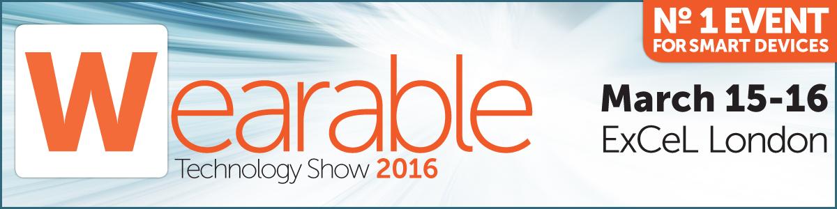 Wearable technology show 2016 banner