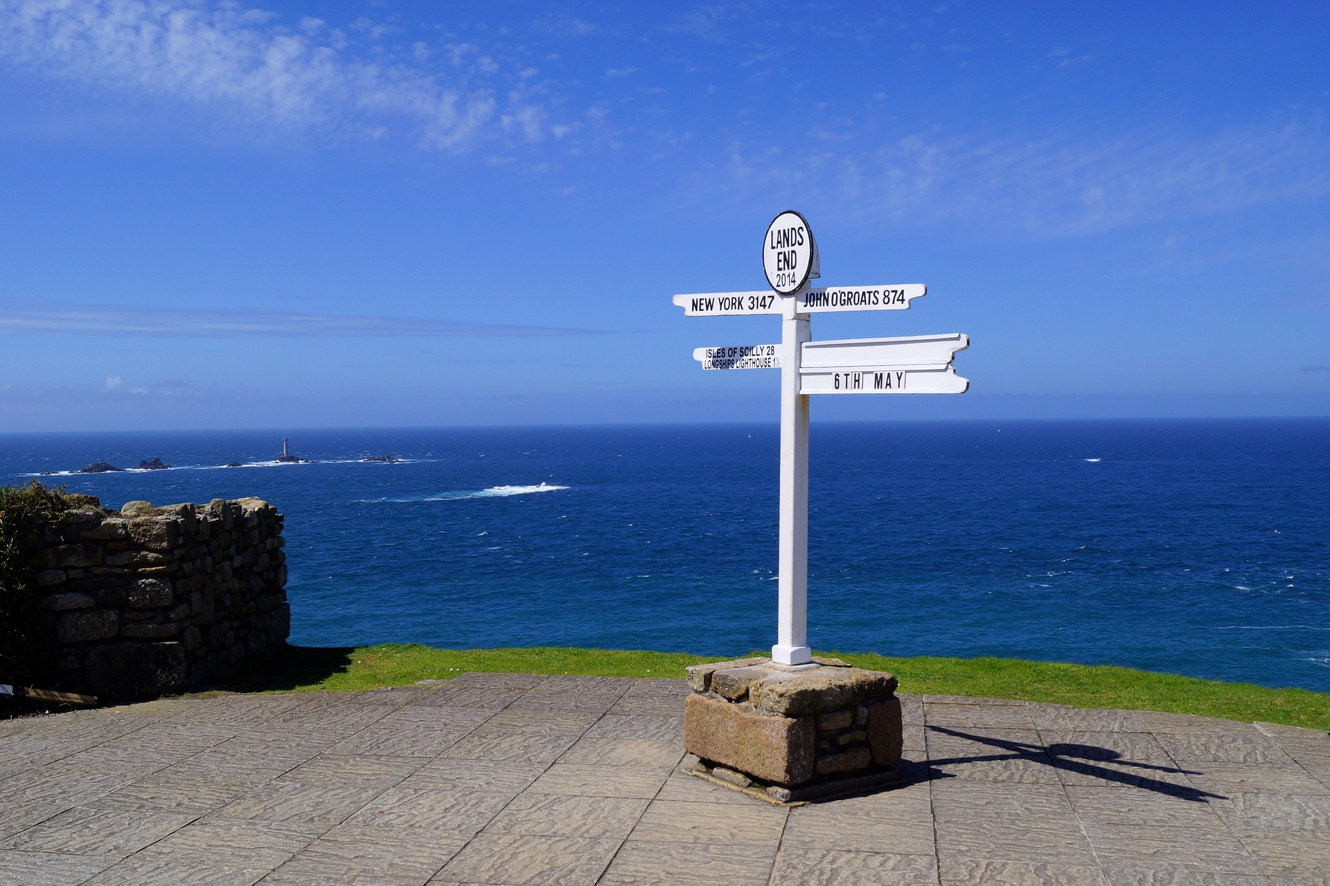 View from Land's End, UK. Image courtesy Pixabay