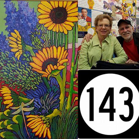 (Left) Don Wonderling Acrylic Painting (Right) Mr. & Mrs. Don Wonderling