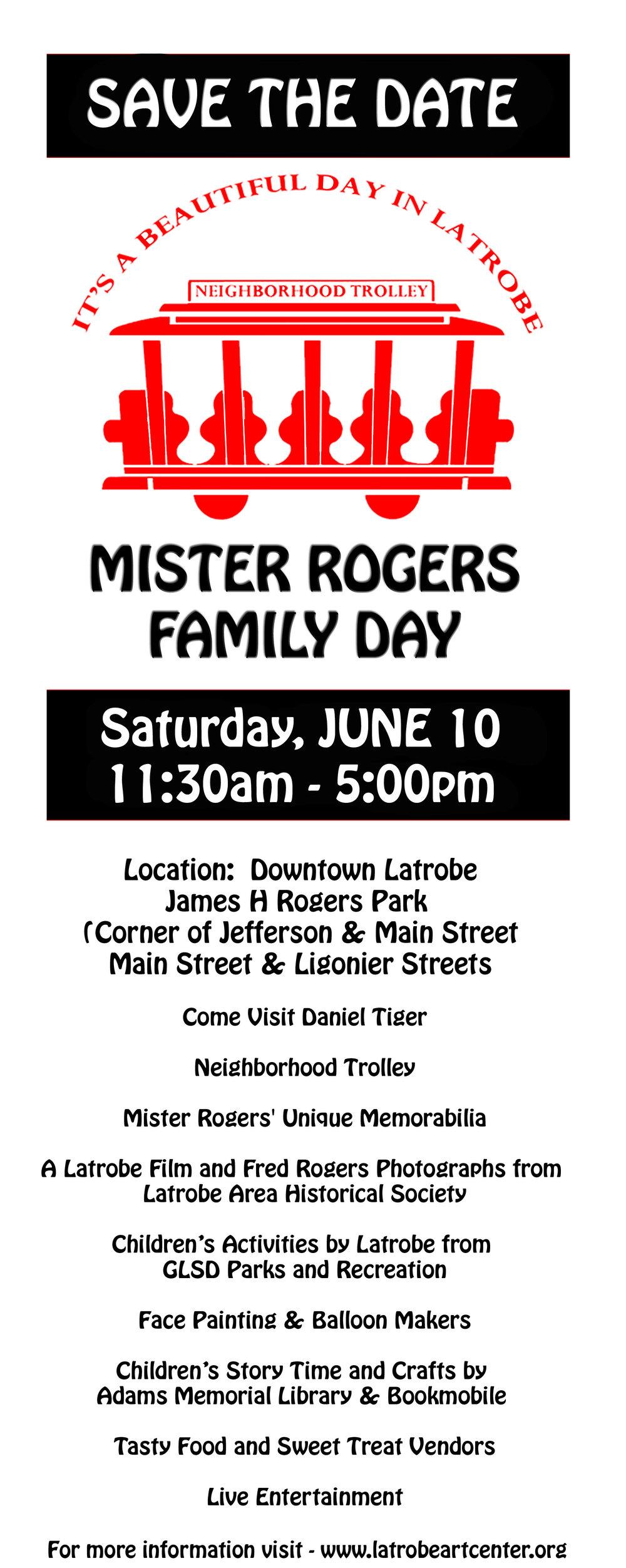 Mr Rogers Family Day, Latrobe Art Center