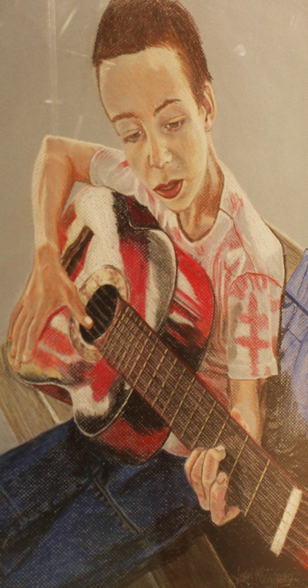 Boy with Red Guitar By: Jan Kinqery