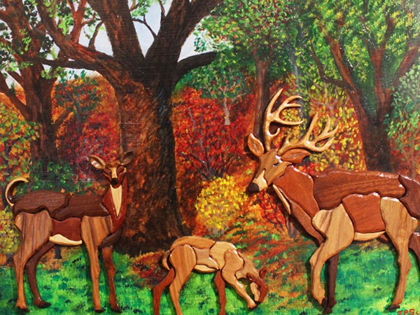 Deer in Autumn  By: Ted Scanga