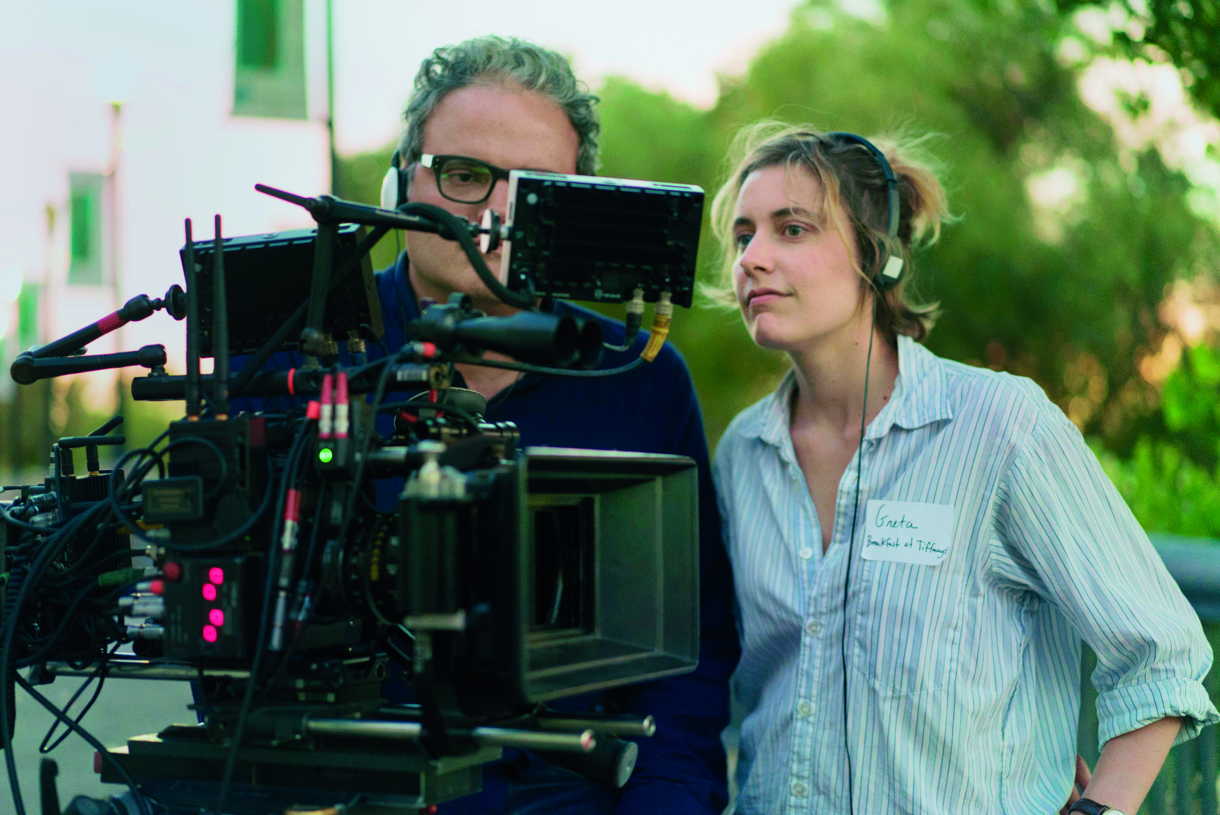 Greta Gerwig directing Lady Bird. Photo credit: Universal Pictures