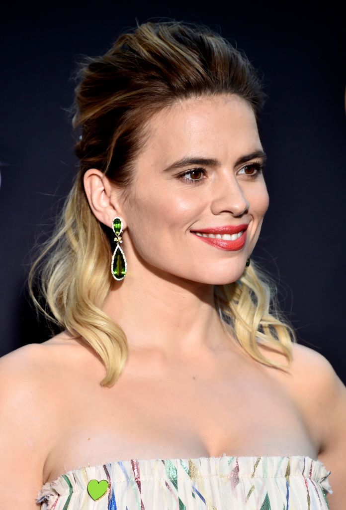 Hayley Atwell promoting 'Christopher Robin.' out August 17 CREDIT: Getty