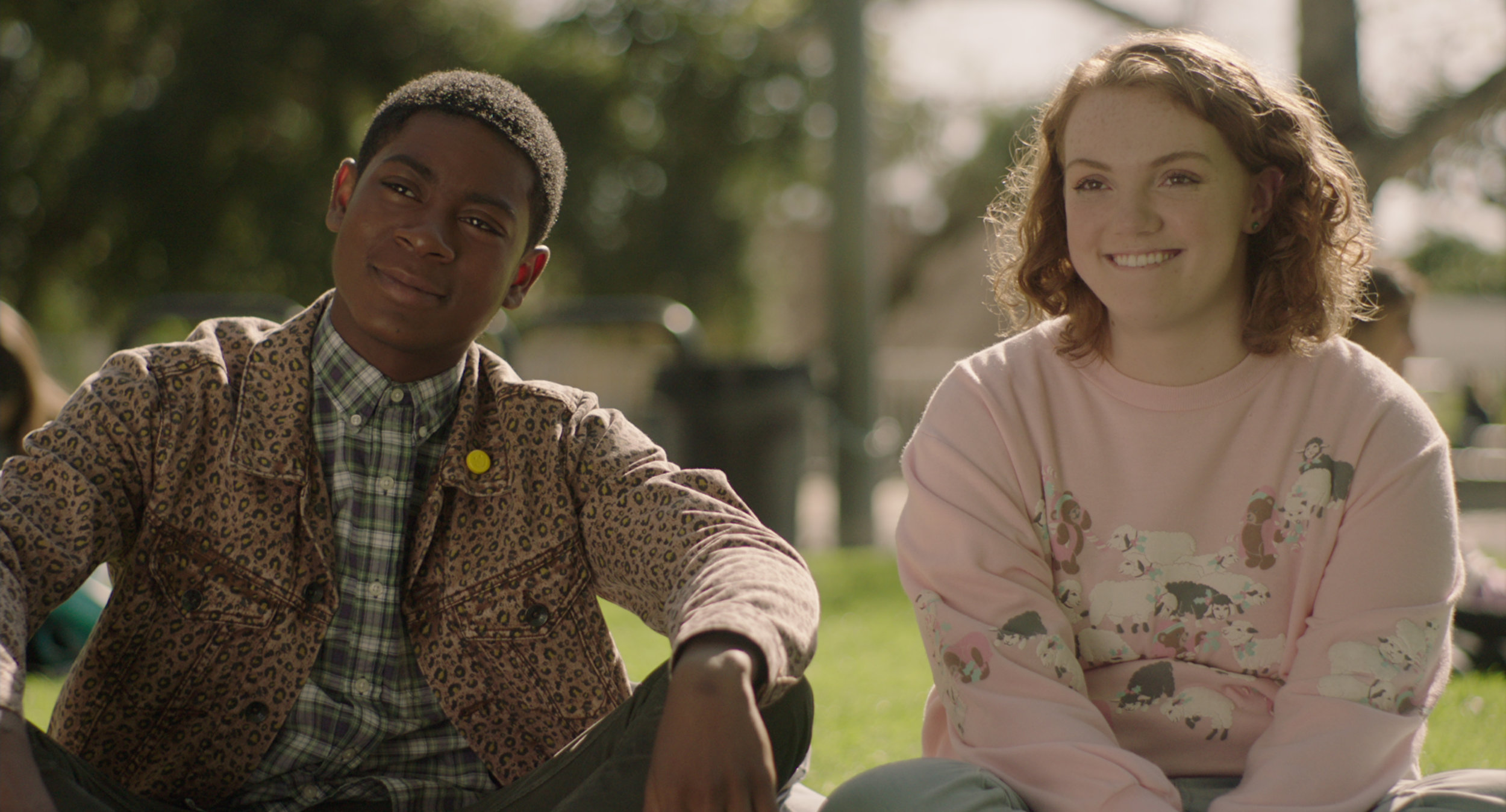 Co-star RJ Cyler. and Shannon Purser CREDIT: Netflix