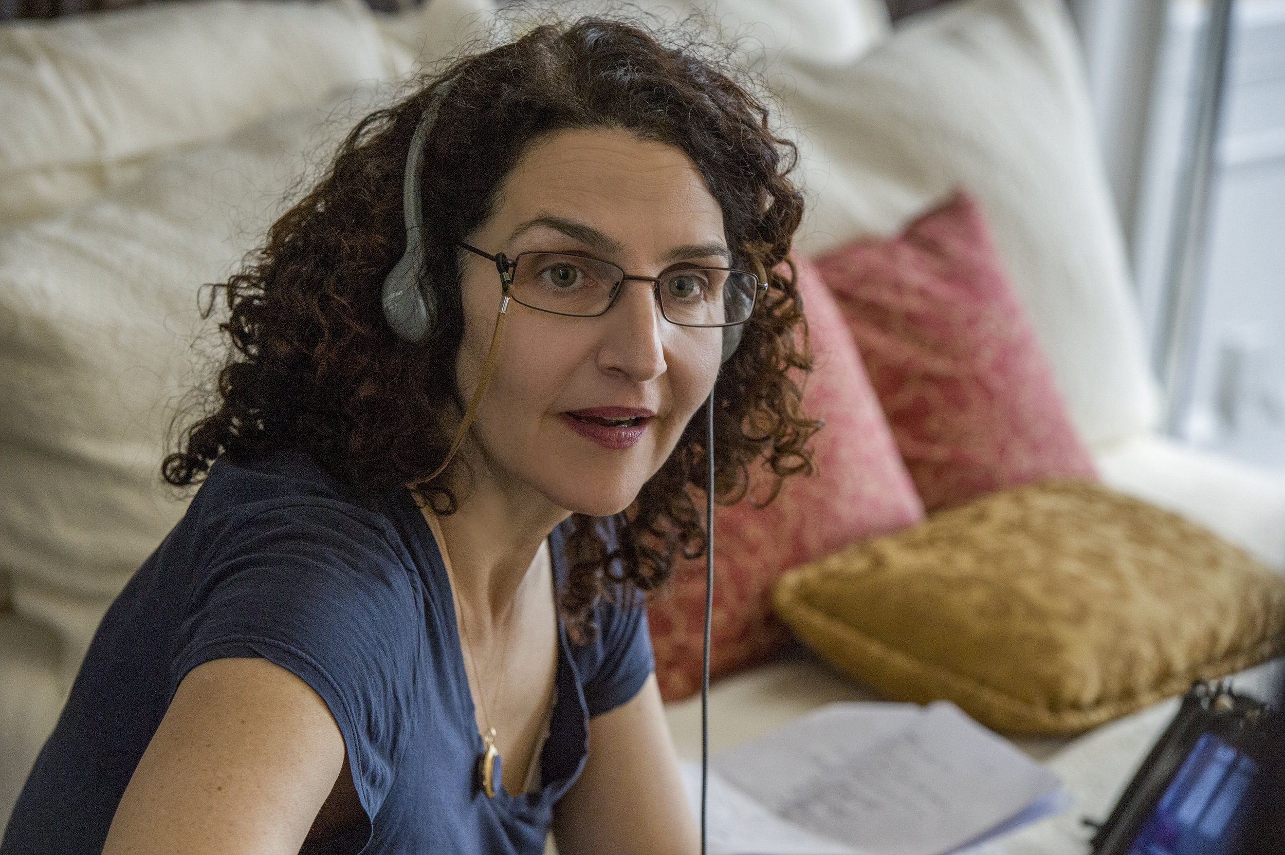 Tamara Jenkins on the set of Private Life, her third feature film. Courtesy Netflix