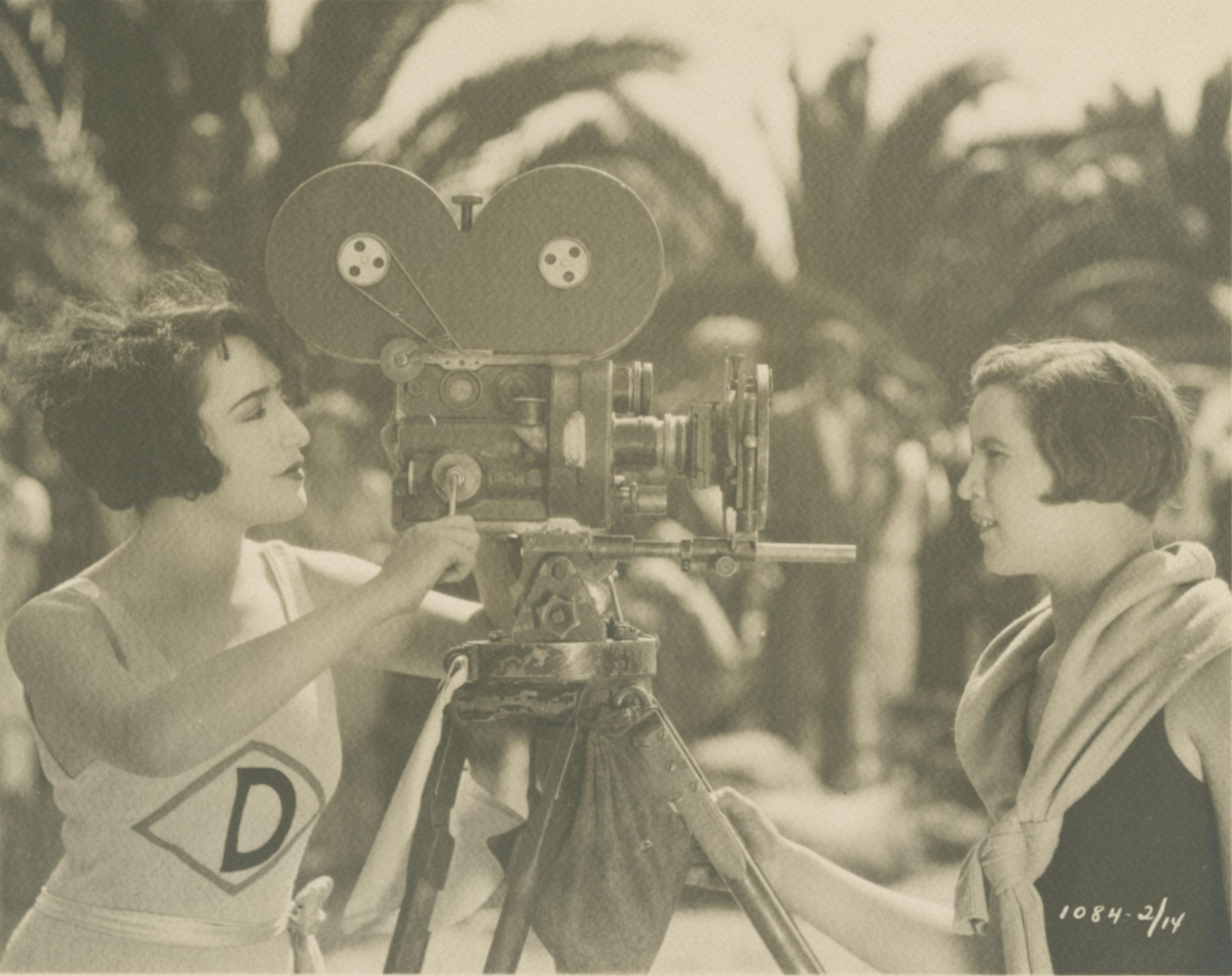 Bebe Daniels as Alice Smith and Gertrude Ederle in Swim, Girl, Swim,1927  Source BFI National Archive.