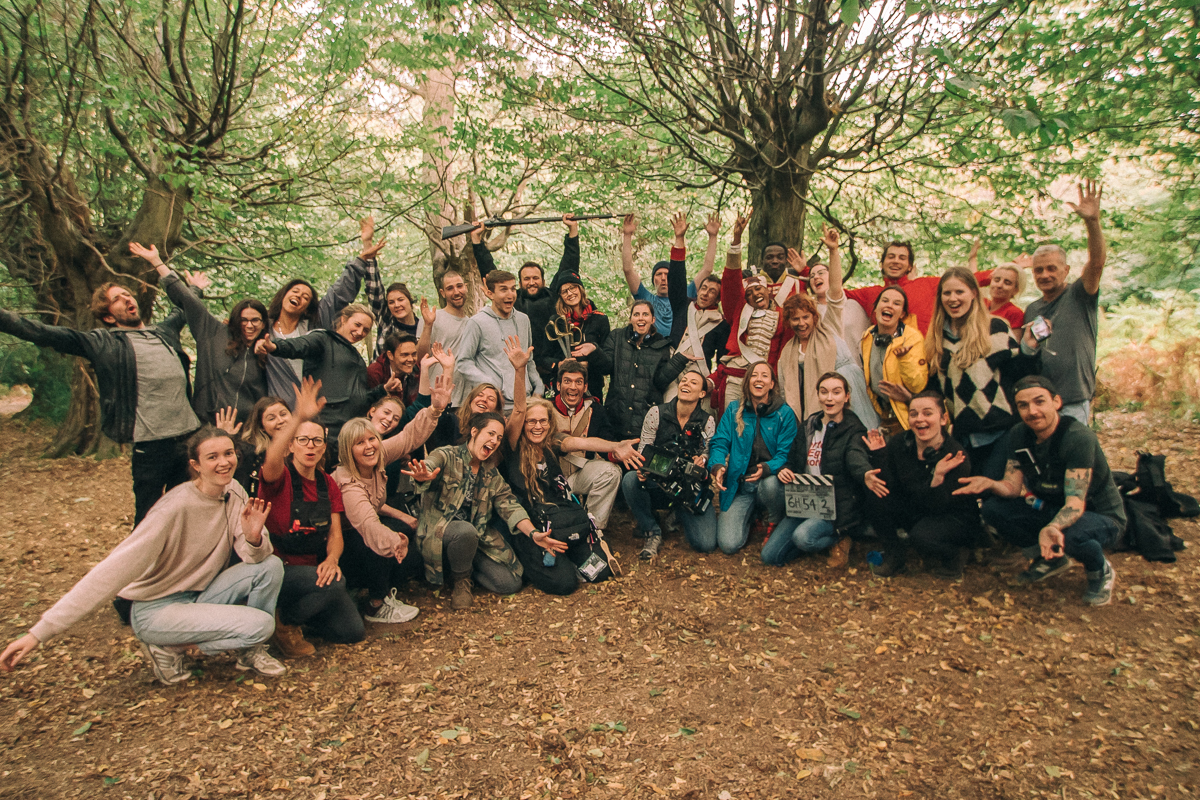 The cast and crew of 'A Battle in Waterloo.' CREDIT: Bumble/Female Film Force