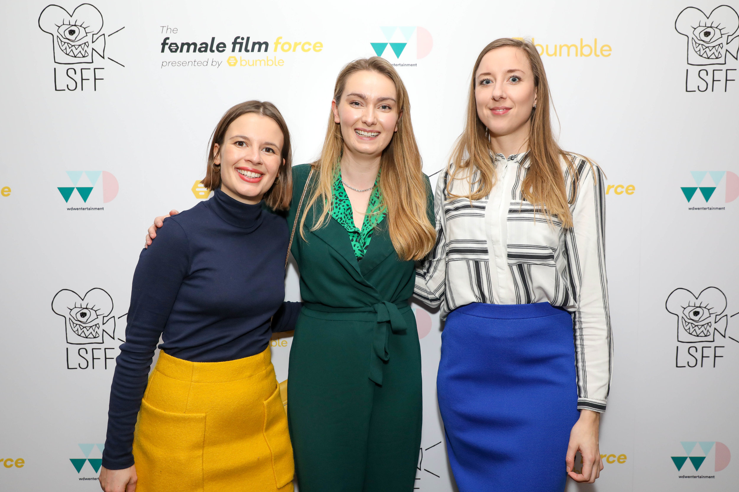 Anna Hargreaves, Emma Moffat and Tilly Coulson, the makers of 'A Battle in Waterloo.' CREDIT: GETTY/Dave Bennet