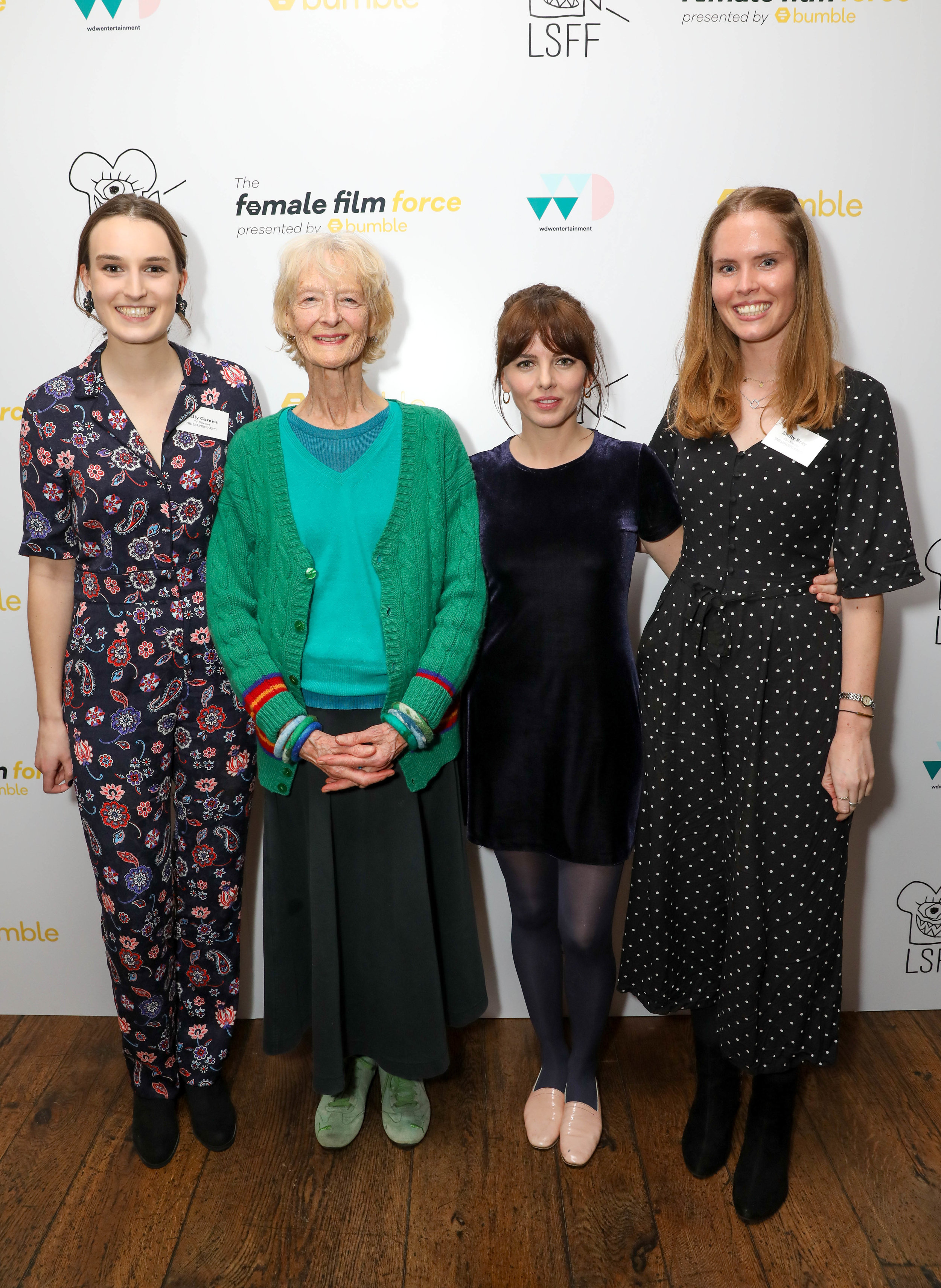 Milly Garnier, Caroline Blakiston, Ophelia Lovibond and Emily Bray at the Female Film Force premiere of 'The Leaving Party' CREDIT: GETTY/Dave Bennet