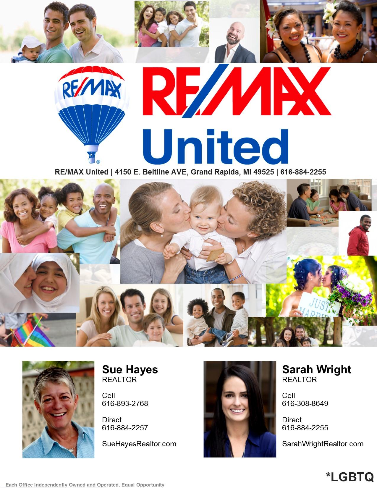 SueHayesRealtor.com   SarahWrightRealtor.com