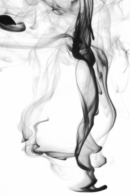 black smoke water