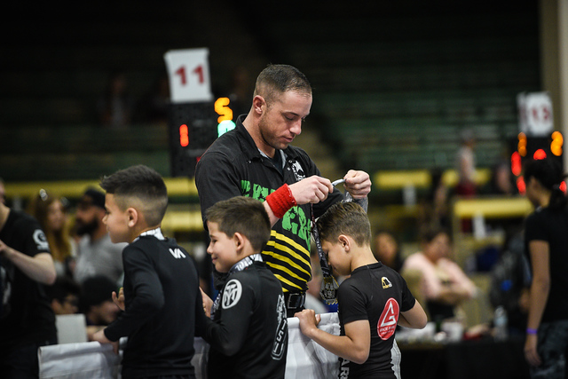 Reffing a f2wbjj.com tournament in denver, Co in 2017. Love being the ref for kids!