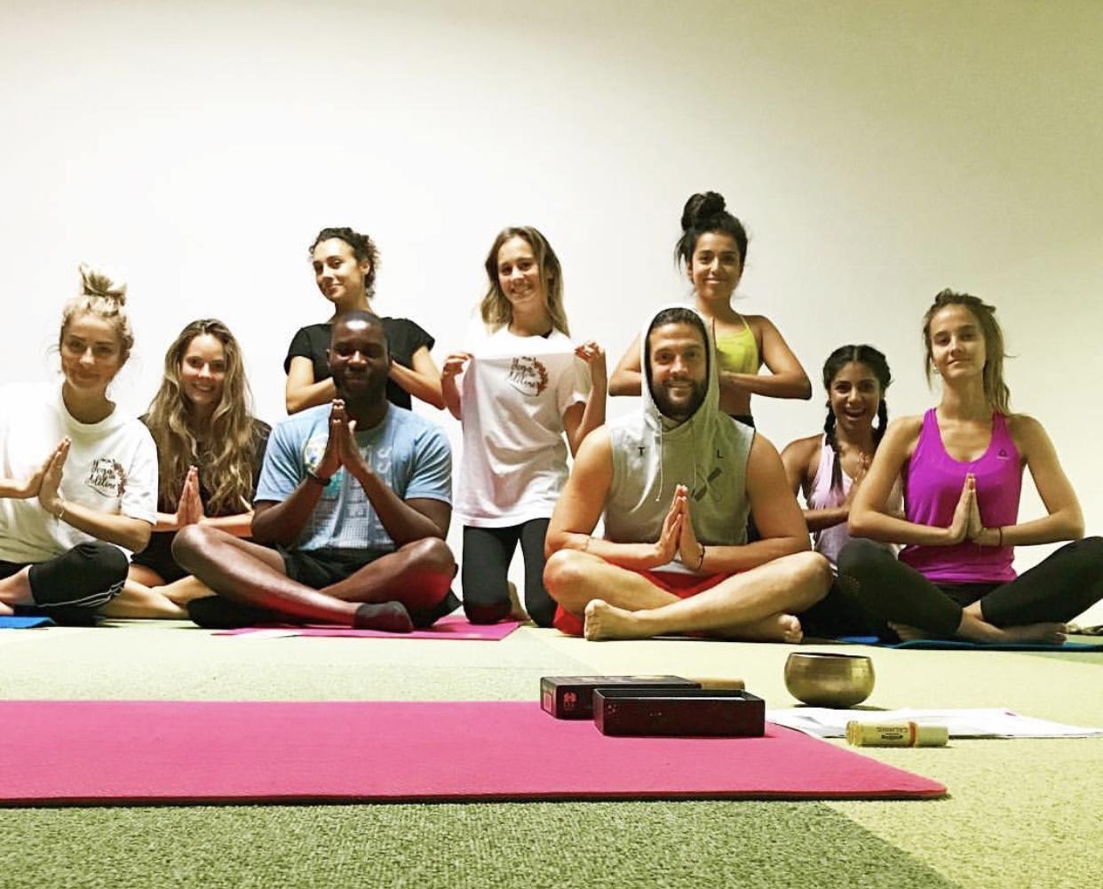 Powerful Ladies #ODOG Host Adeline Perez Bondu at her Yoga Class in Barcelona