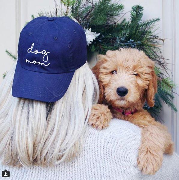 dog mom cursive hat rainey.JPG